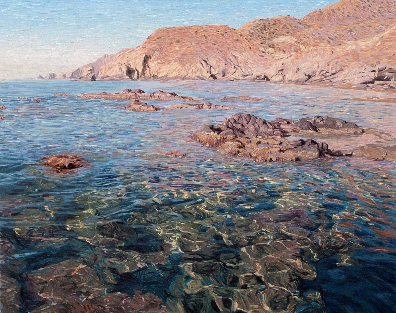Cabo de Gata 04 Almería Contemporary Seascapes Painting 92 x 73 cm