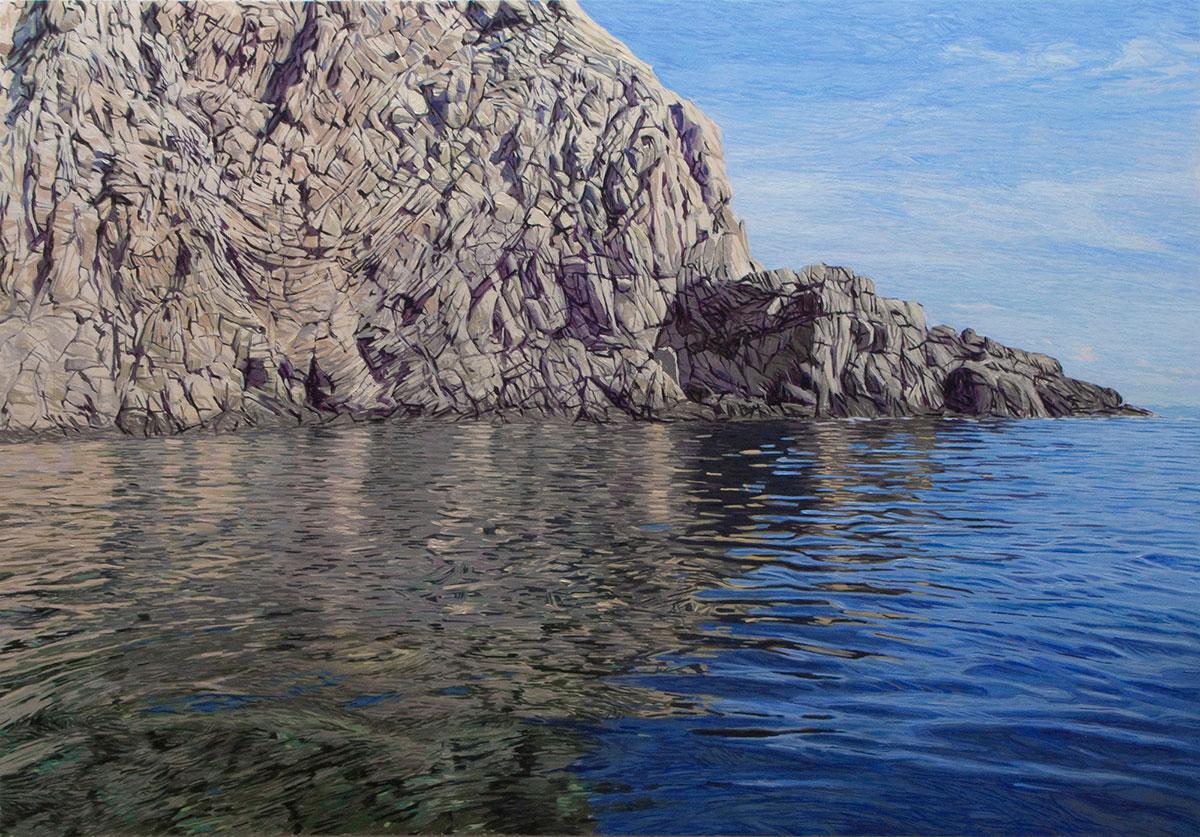 Cabo de Gata 05 Almería Contemporary Seascapes Painting 175 x 122 cm