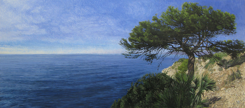 Maro-Cerro Gordo Cliffs 01 Painting Contemporary Seascapes