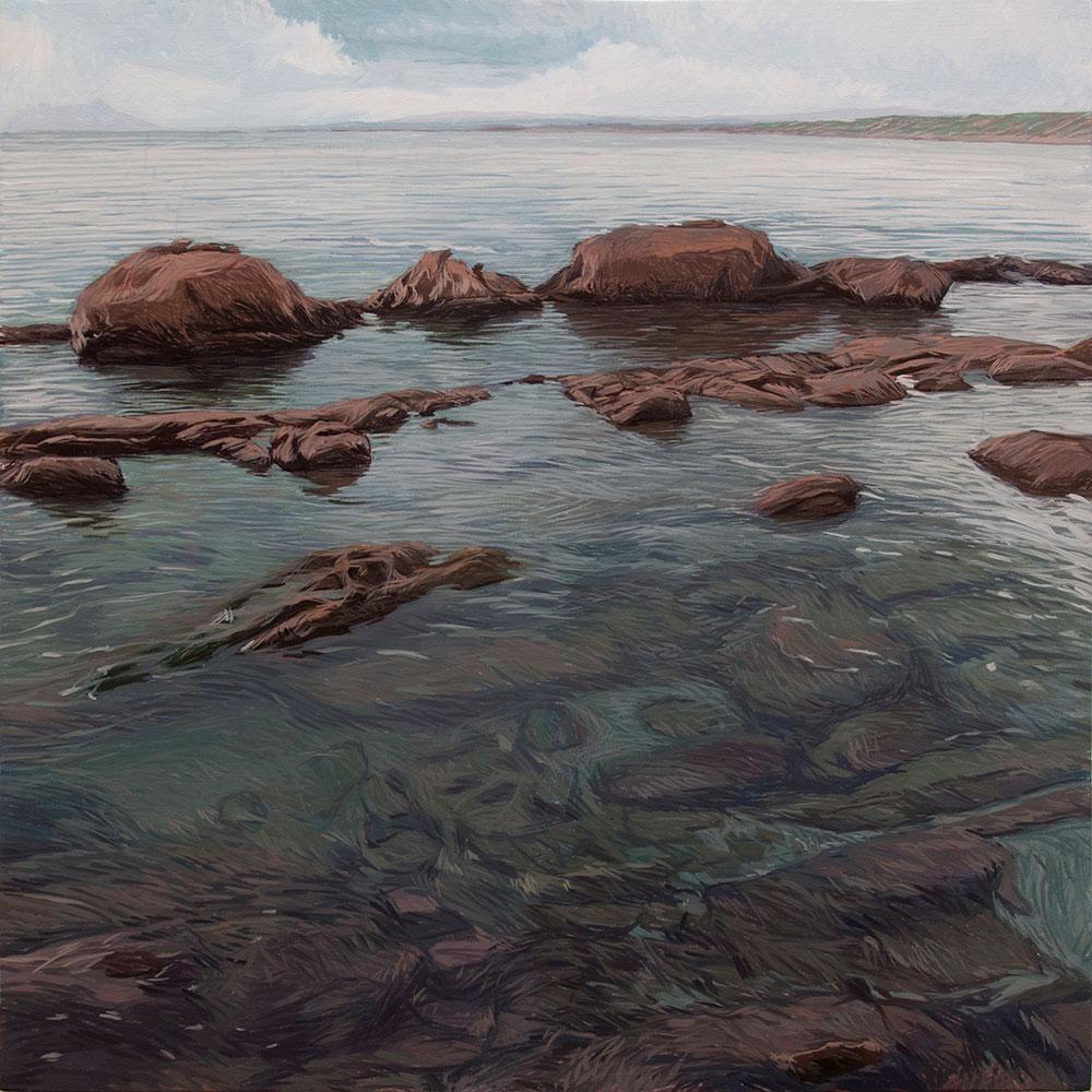 Estepona 01 Málaga Contemporary Seascapes Painting 80 x 80 cm