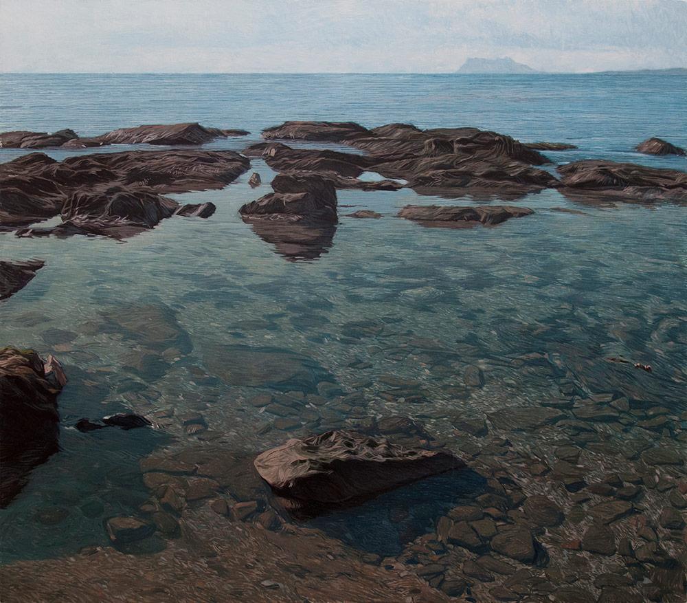 Estepona 02 Cádiz Contemporary Seascapes Painting 122 x 107 cm