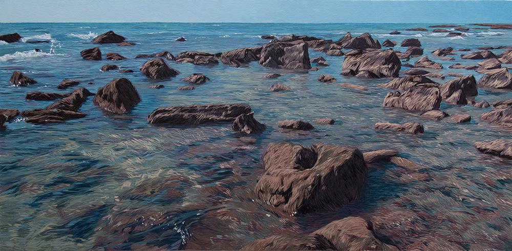 Punta Paloma 01 Cádiz Contemporary Seascapes Painting 124 x 61 cm