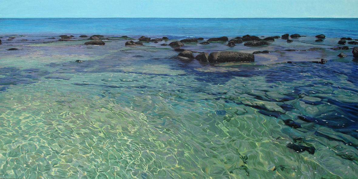 Tarifa 01 Cádiz Contemporary Seascapes Painting 200 x 100 cm