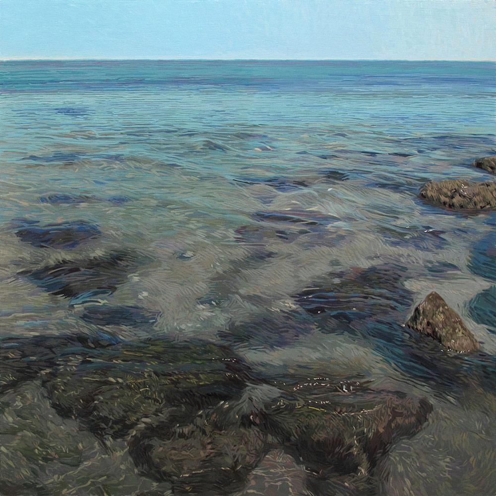 Tarifa 02 Cádiz Contemporary Seascapes Painting 99 x 99 cm